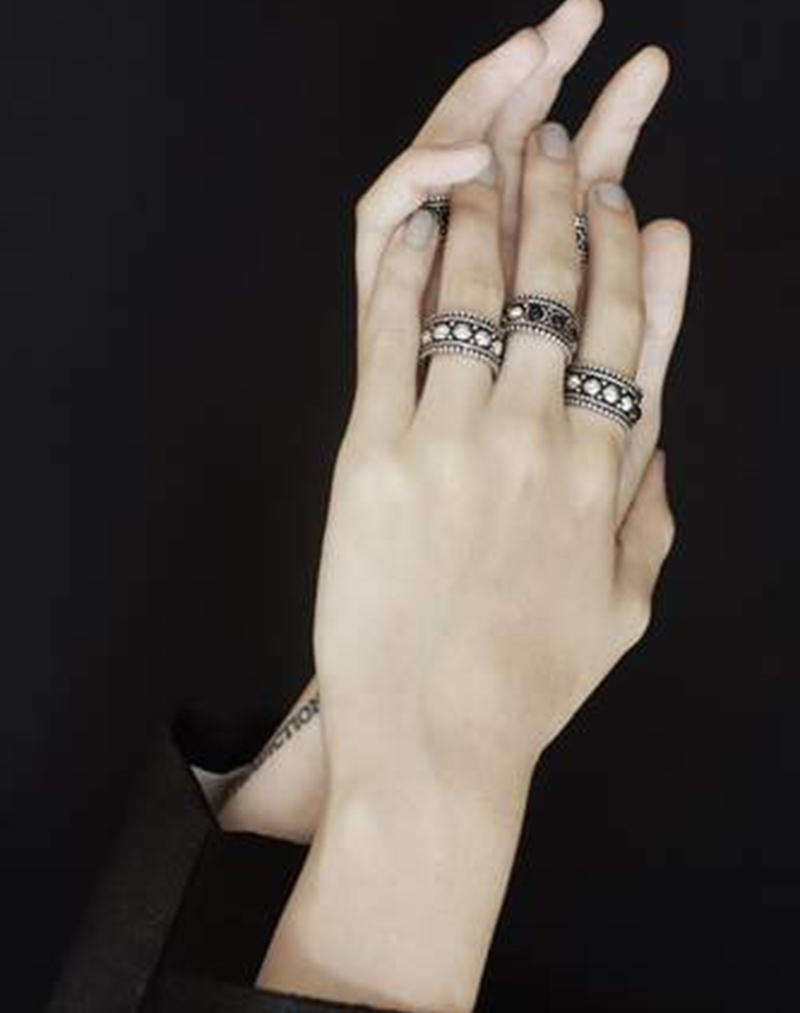 Naima Oxidized Silver Ring - buy clothes online of emerging designers