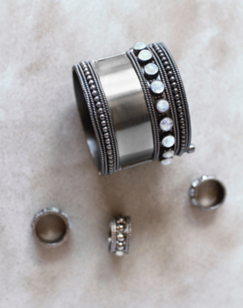 Kajal Gunmetal Cuff - buy clothes online of emerging designers