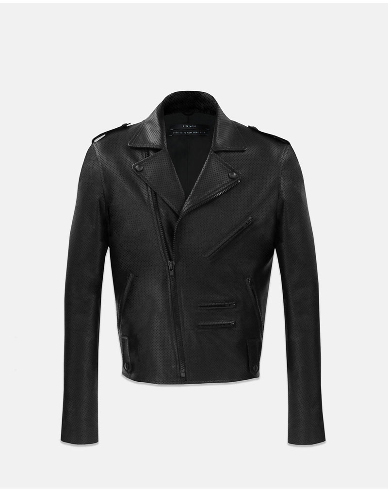 Killer Biker Jacket - Perforated Black - buy clothes online of emerging designers