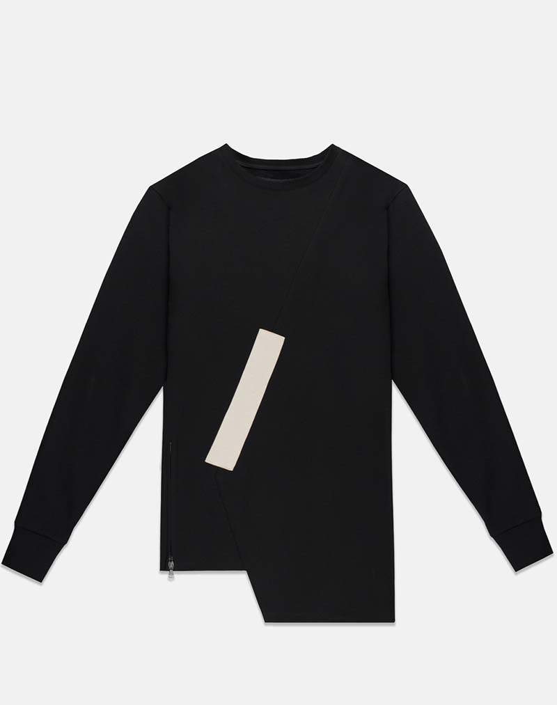 Fixed Damaged Crew - Black - buy clothes online of emerging designers