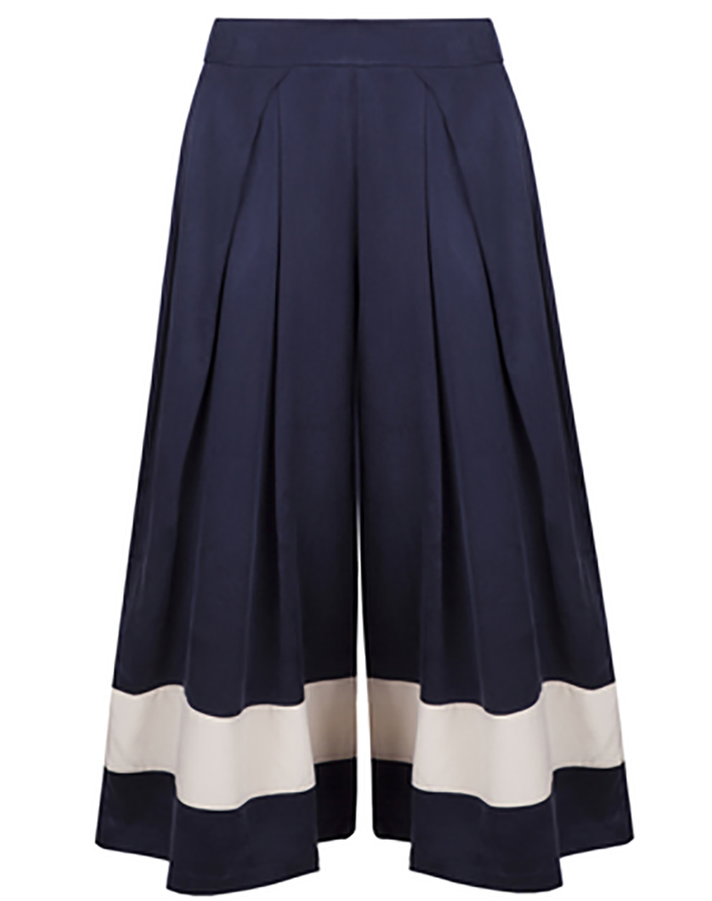 Blues Before Sunrise Culottes - buy clothes online of emerging designers