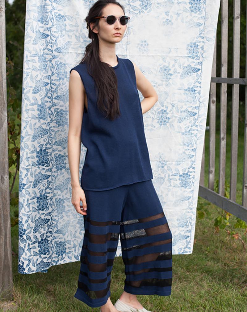 Kate Pant Indigo - buy clothes online of emerging designers