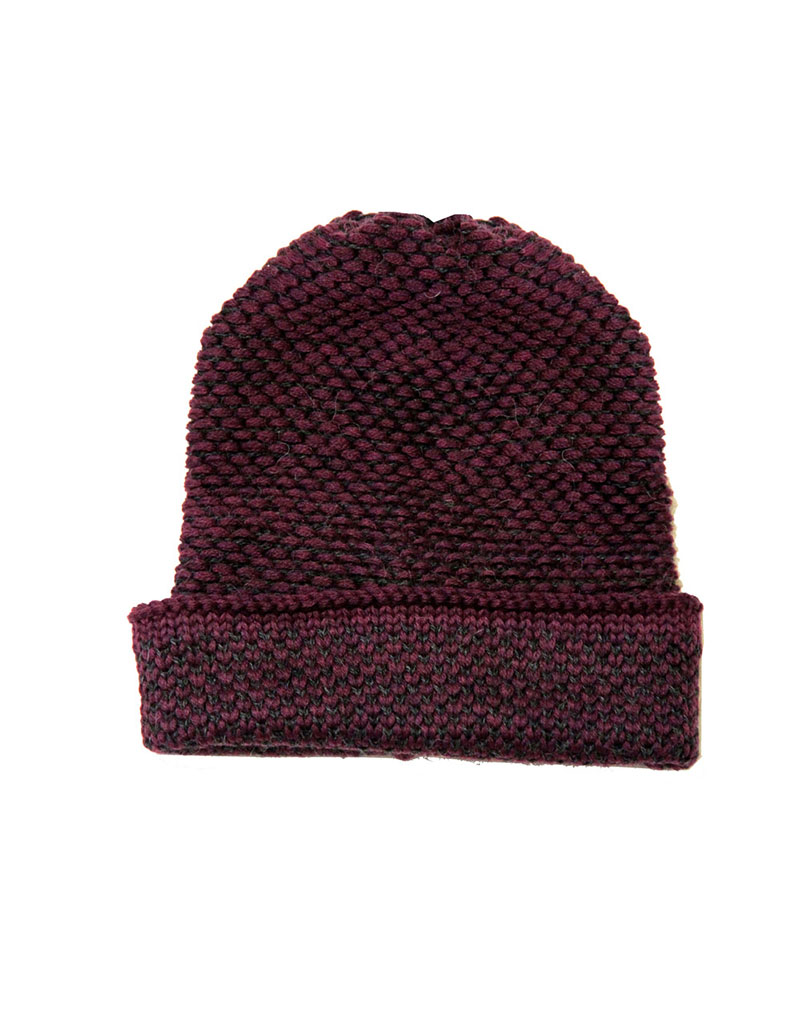 Seed Stitch Maroon/dk Grey - buy clothes online of emerging designers