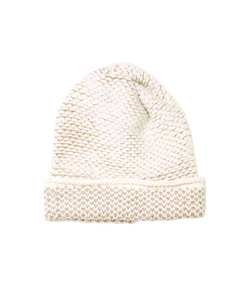 Seed Stitch Hat Cream/camel - buy clothes online of emerging designers