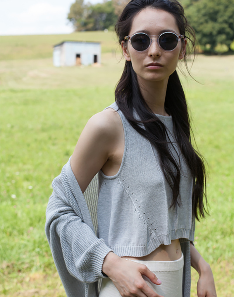 Elsi Tank Light Grey - buy clothes online of emerging designers
