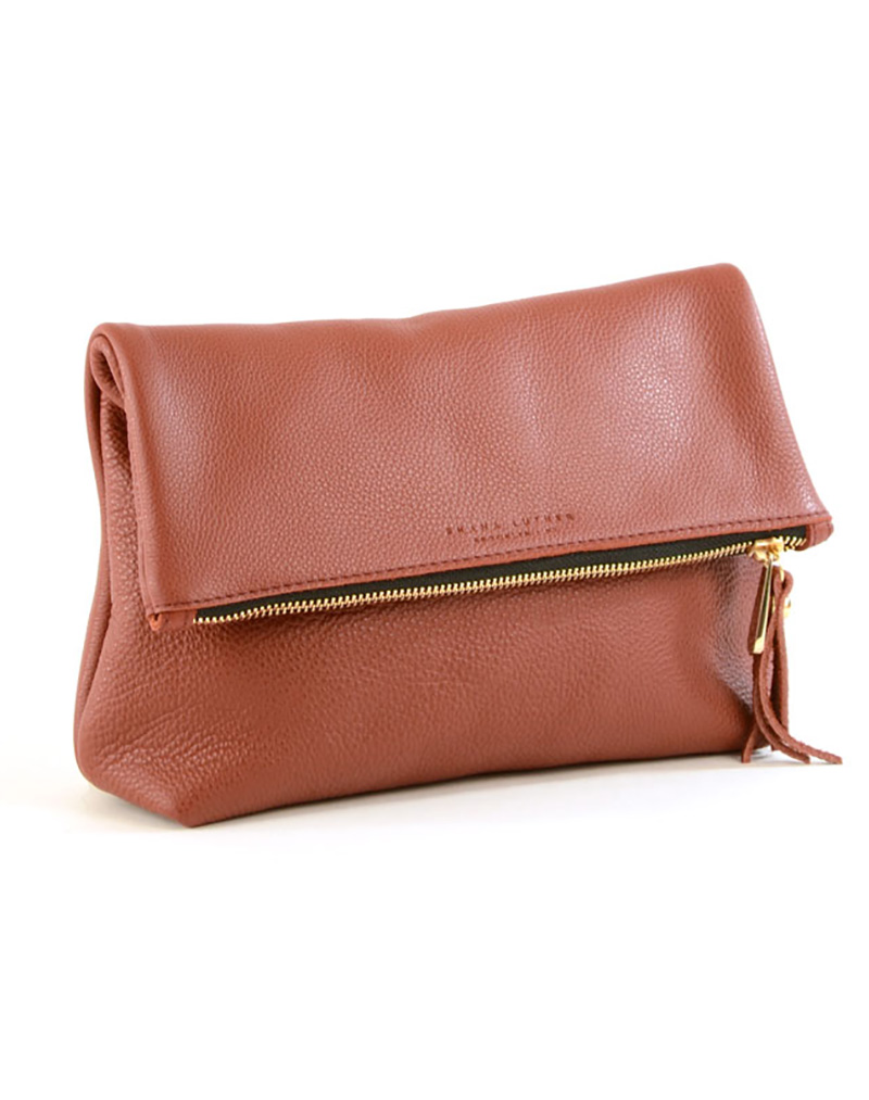 Tre Clutch- Rust - buy clothes online of emerging designers