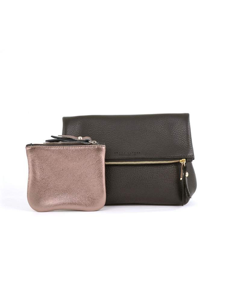 Tre Clutch, Sl Pouch Gift Set- Black/anthracite - buy clothes online of emerging designers