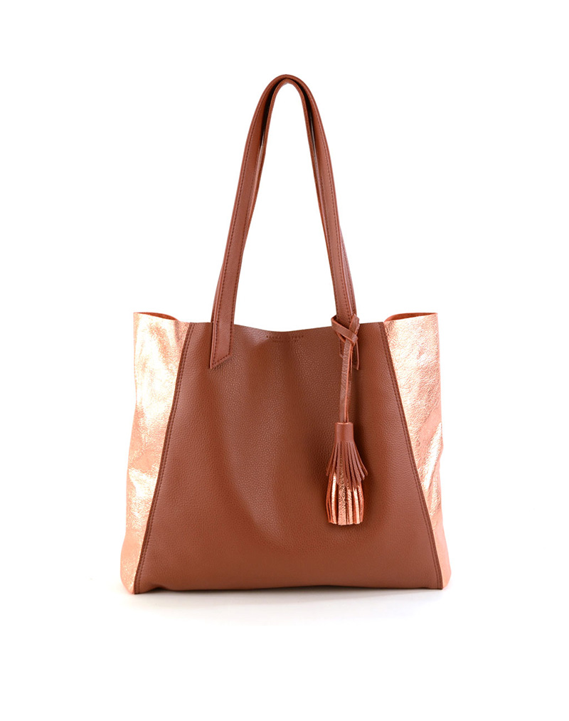 June Tote- Rust/copper - buy clothes online of emerging designers